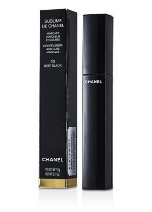 Новая chanel sublime de chanel удлиняющая и загибающая тушь оригинал 6  g #deep black