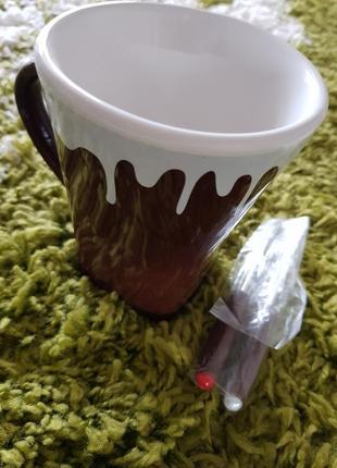 Чашка фондюшница для двоих