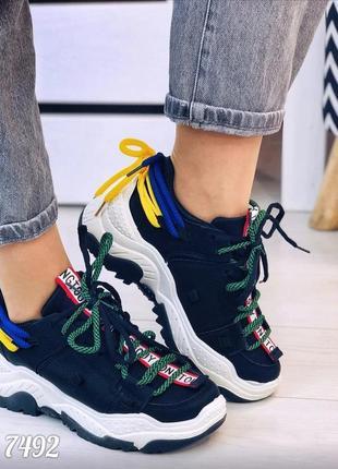 Кроссовки много шнурков sale