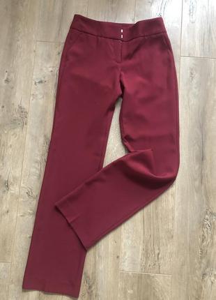 Классические брюки, марсала , прямые
