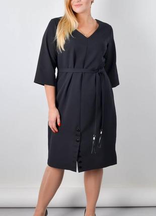 Базовое платье большого размера, платье женское плюс сайз, плаття жіноче великого розміру