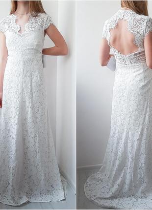 Ivy & oak шикарное свадебное платье кружево