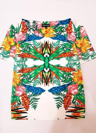 Warehouse блуза блузка цветочный принт l 12 40