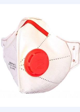 Многоразовый респиратор ffp3 c клапаном  высший класс защиты маска респиратор