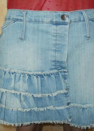 Стильная джинсовая юбка юбка на запах джинсовая юбка