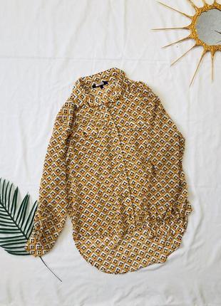 Блуза с длинным рукавом на пуговицах