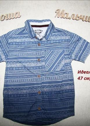 Летняя амбре рубашка для мальчика