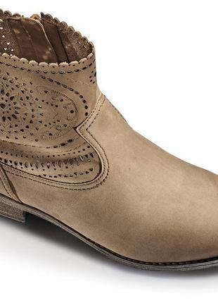 Стильные ботинки gabor с перфорацией из натурального нубука