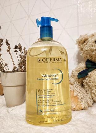 Bioderma atoderm huile de douche олія 1л