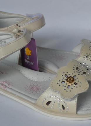 Кожаные босоножки для девочек том. м