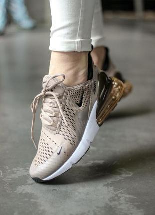 Nike air max 270 кофейные ⭕ женские кроссовки ⭕ наложенный платёж