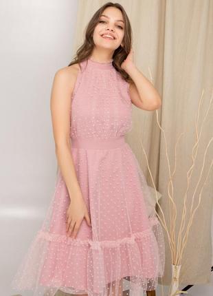 Платье с сеткой