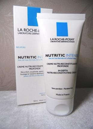 Питательный крем нутритик для сухой кожи лица от la roche