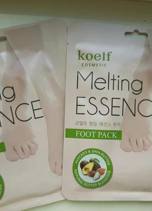 Маска-носочки для ног с маслами и экстрактами petitfee koelf melting essence foot pack