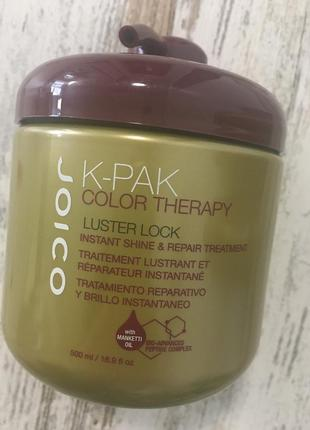 Маска для волос «сияние цвета» joico k-pak ct luster lock