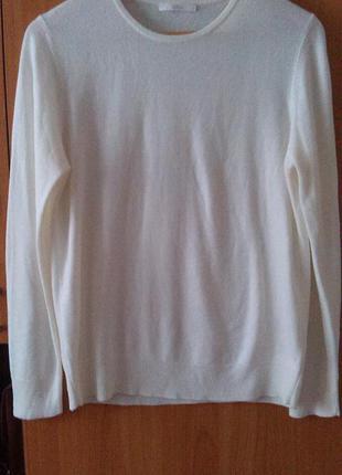 Легкий кремовый свитер marks & spencer