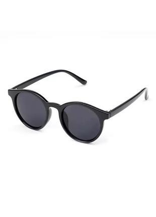 Солнцезащитные очки, чёрные солнцезащитные очки, круглые солнцезащитные очки чёрного цвета