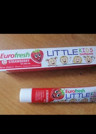 Детская зубная паста от 3-х лет клубника farmasi eurofresh