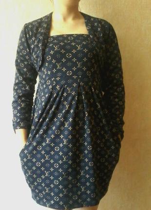 Платье-сарафан с пиджаком