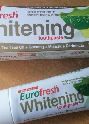 Зубная паста отбеливающая farmasi eurofresh whitening toothpaste