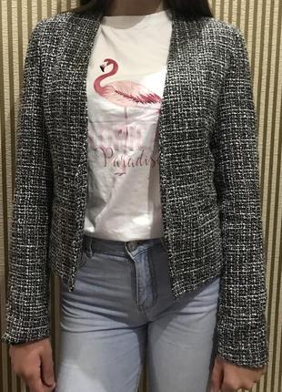 Твидовый пиджак new look