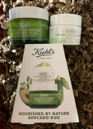 Набор kiehl's крем для кожи вокруг глаз и маска с авокадо