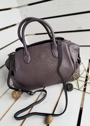 Скидка -50 грн стильная женская сумка из кожи