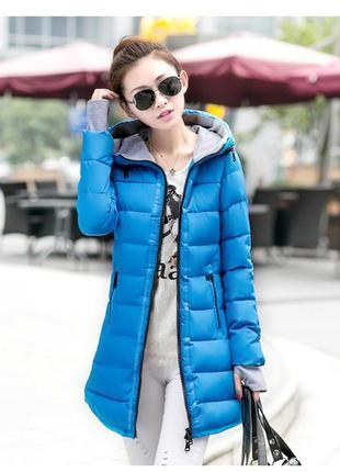 Приталенная куртка- парка мод.2016 зимняя! не промокает!