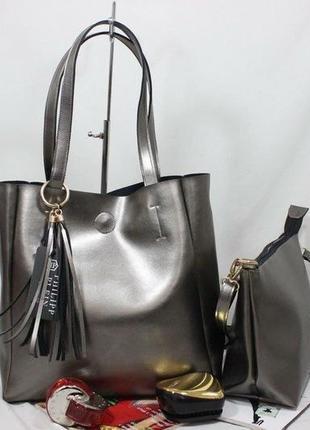Женская сумка экокожа комплект (арт.л2423)