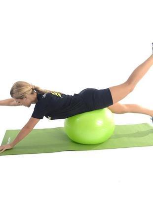 Мяч для фитнеса, фитбол profit ball 65см (усиленный) green