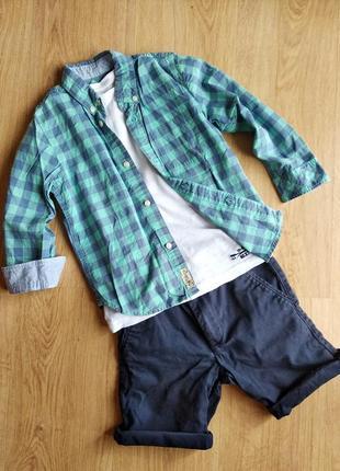 Рубашка h&m, р.110, 4-5 лет