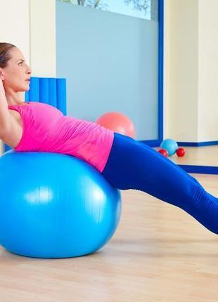 Мяч для фитнеса, фитбол profit ball 65см (усиленный) blue