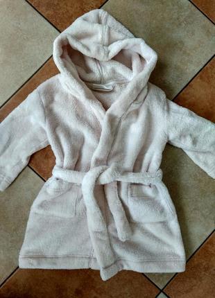Махровый халат 1-2 года