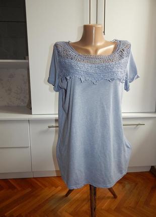 George блузка стильная модная с кружевом р16