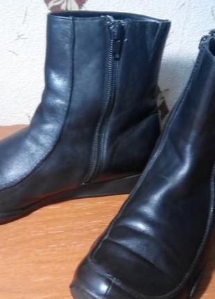 Удобные,мягкие,  комфортные ботинки, полусапоги  кожа 100 %clarks