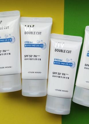 Солнцезащитный крем/лимитка/etude house uv double cut fresh sun gel spf 50+ pa++++