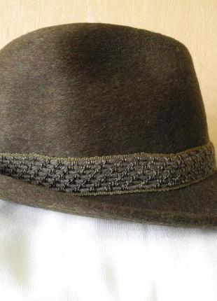 Мужская шляпа  трилби из фетра. р.59 англия