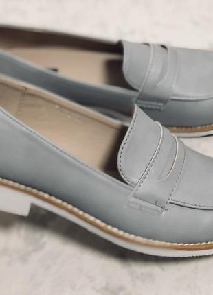 Классические туфли  серые