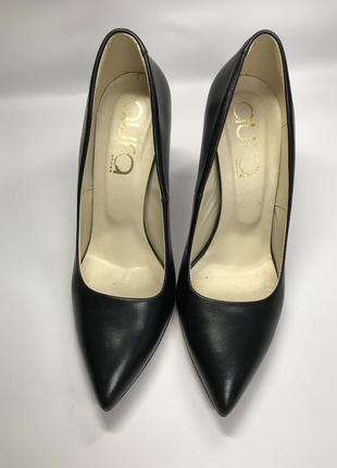 Чёрные туфли кожаные 37 р