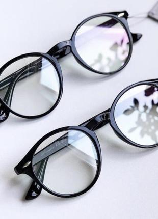 Круглые компьютерные очки для компьютера с защитой, окуляри для пк, антиблик
