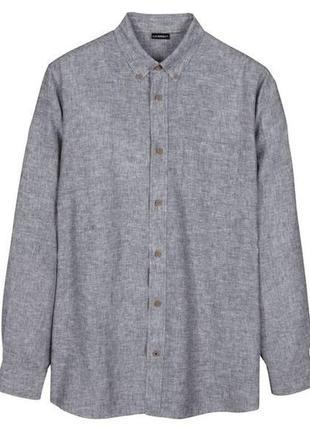 Мужская льняная рубашка.livergy/германия.48-50 м