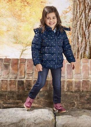 Теплая куртка на девочку от lupilu by cherokee.110 рост