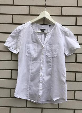 Белая,легкая блузка рубашка marc o polo