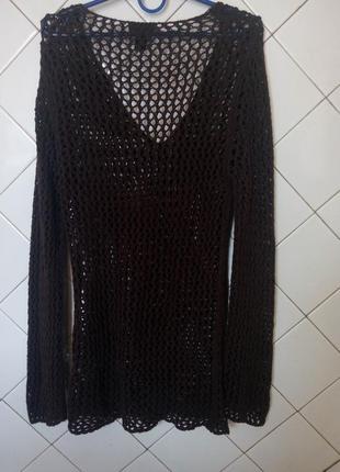 Коричневый свитер кольчуга h&m
