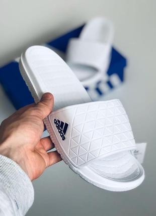 Мужские тапки adidas white