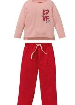 Піжамки від lupilu pure collection для дівчаток.