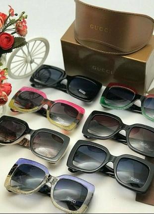 Gucci солнцезащитные брендовые очки гуччи аксессуар