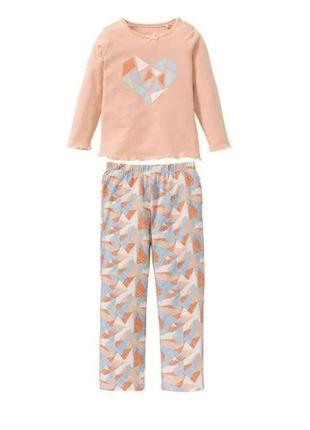 Піжамки від lupilu pure collection для дівчаток
