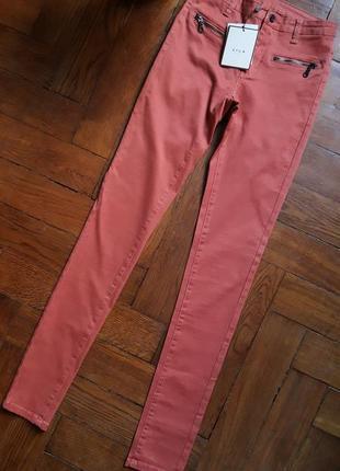 Sale.терракотовые летние джинсы skinny, с(26).