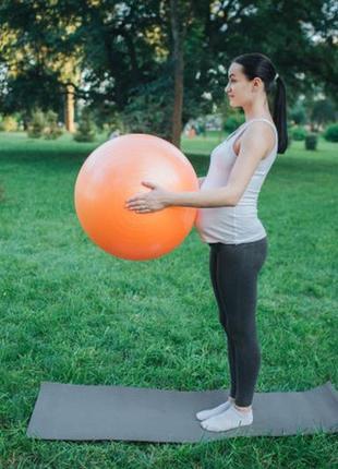 Мяч для фитнеса, фитбол profit ball 65см (усиленный) orange
